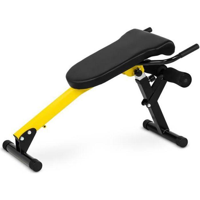 Banc de Musculation Réglable Pliable Fitness Multifonction Lombaires Abdominaux