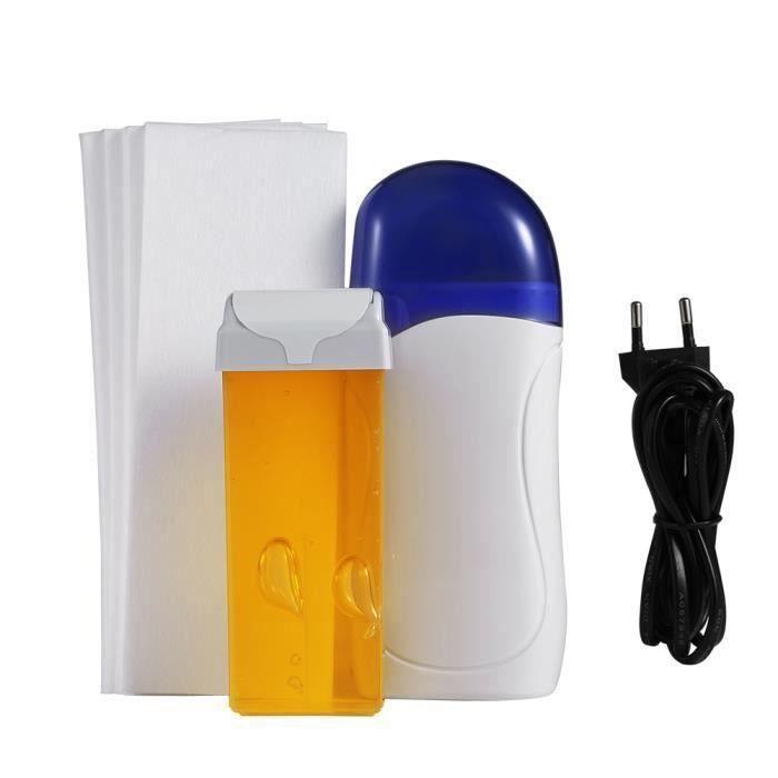 Épilateur de cire Épilation chauffeur + cartouche de cire + papier épilatoire miel EU Plug Me65830