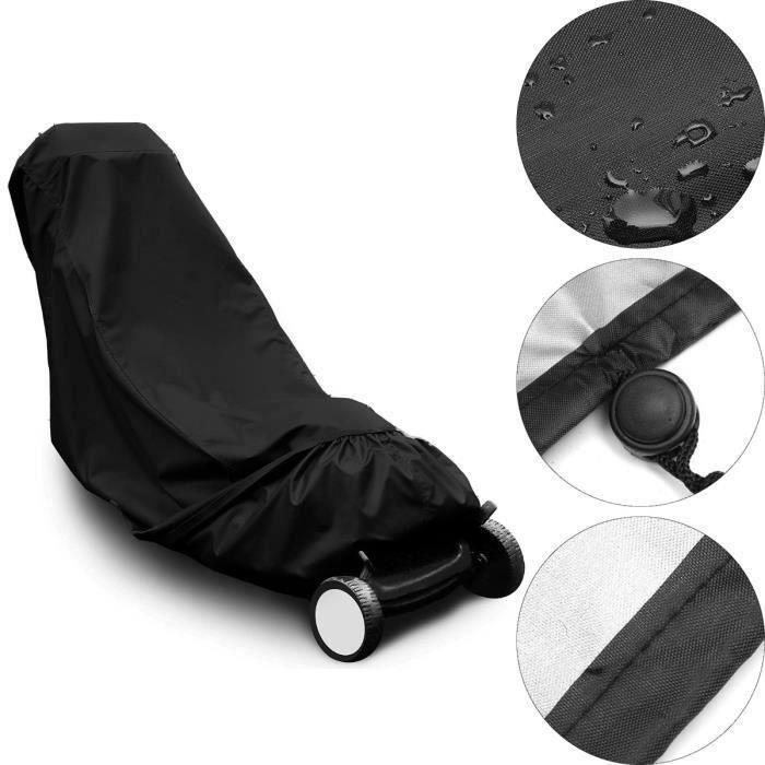 Housse bache de protection pr tondeuse à gazon débroussailleuse 191cm x 50cm x 100cm (sans tondeuse ) Ve31169