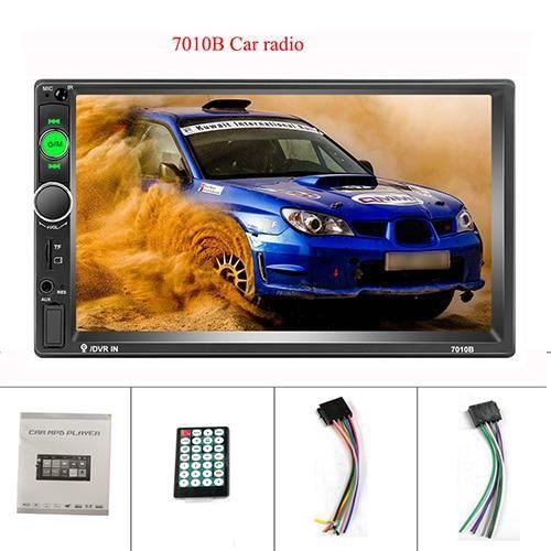 Podofo universel 2 din voiture lecteur multimédia Autoradio 2din Autoradio 7- écran tactile vidéo MP5 - Type 7010B Radio Only