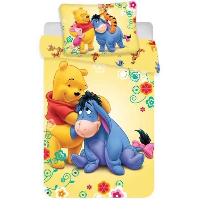 Jerry Fabrics Winnie l'ourson 18BS120 Parure de lit taille enfant Taille 40x60 + 100x135 cm Coton