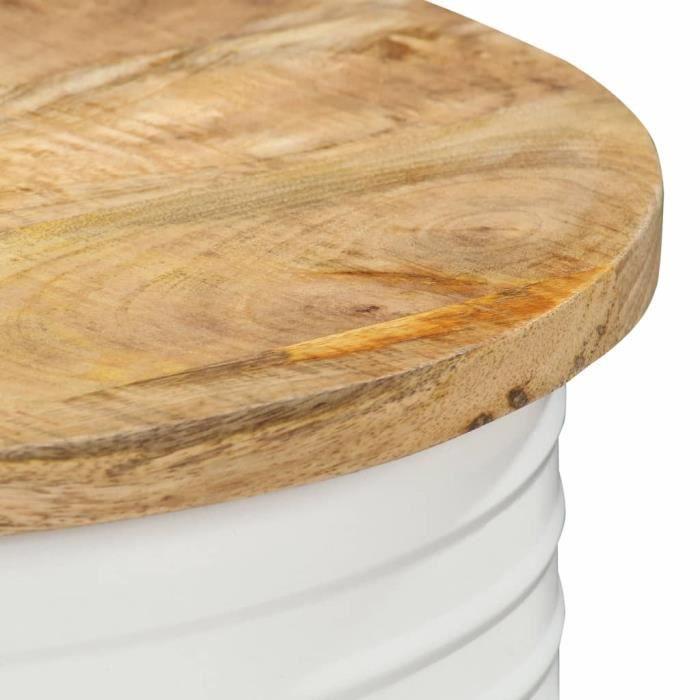 Style Élégance Chic - Table basse Style Scandinave - Bout de canapé Table à thé 43x55 cm Bois de manguier solide - 46428