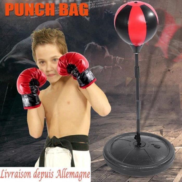 JZ05861-Punching Ball avec gants de boxe pour enfant Sac De Frappe entraînement de boxe