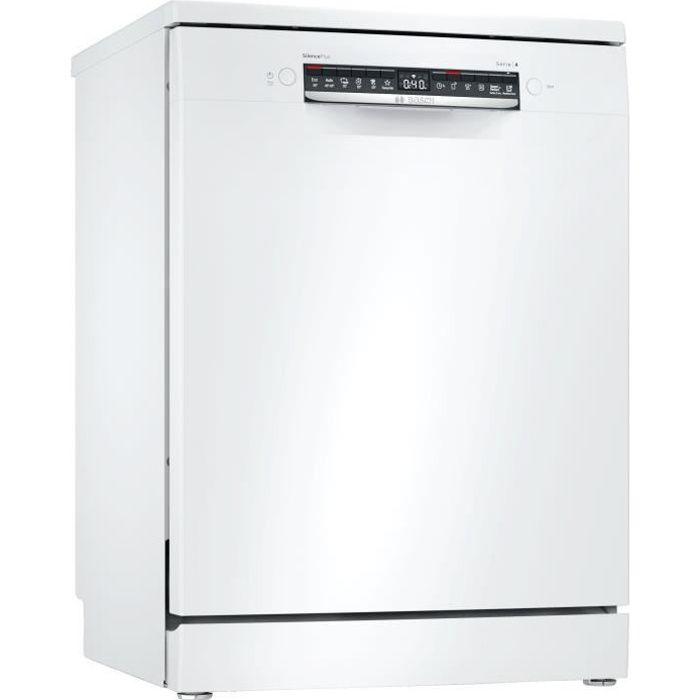 Lave-vaisselle pose libre BOSCH SMS4HTW47E Série X - 12 couverts - Moteur induction - L60cm - 44 dB - Blanc