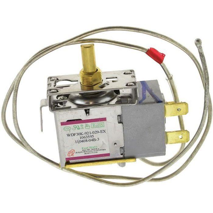 Thermostat wdf30k-921-029-ex pour Refrigerateur Rosieres, Refrigerateur Candy, Refrigerateur Thomson, Refrigerateur Brandt,