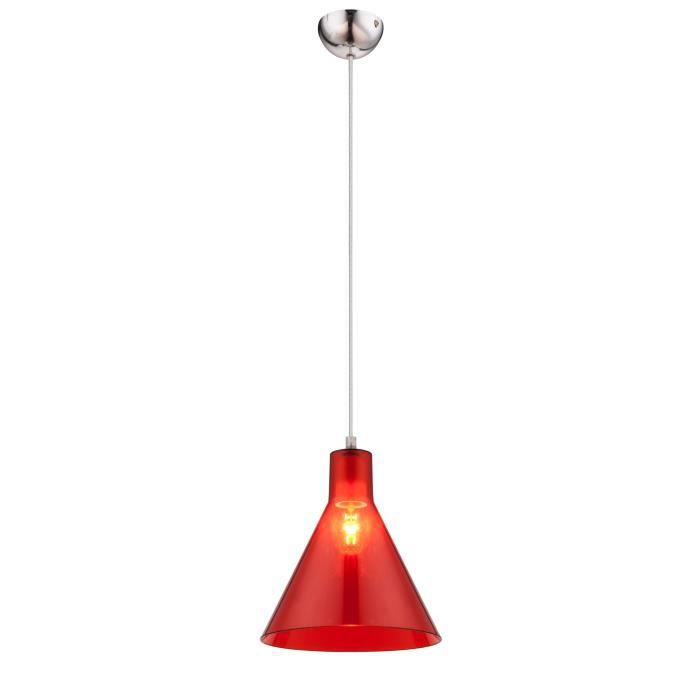 GLOBO Suspension acrylique L21,5 x l21,5 x h113 cm - Rouge