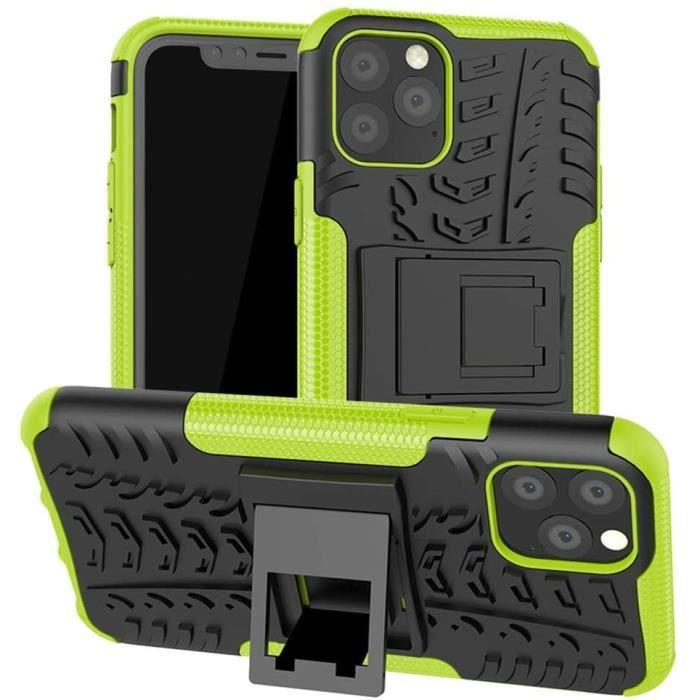 Coque pour iPhone 11 Pro avec béquille pour iPhone 11 Pro 5,8-, PC, Vert, 5.8-