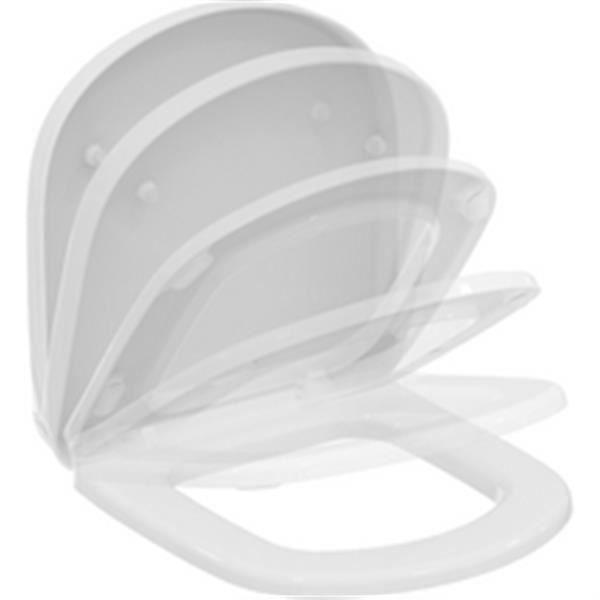 Ideal standard Abattant avec frein de chute pour cuvette suspendue KHEOPS 48X37 version courte, blanc Réf T679901