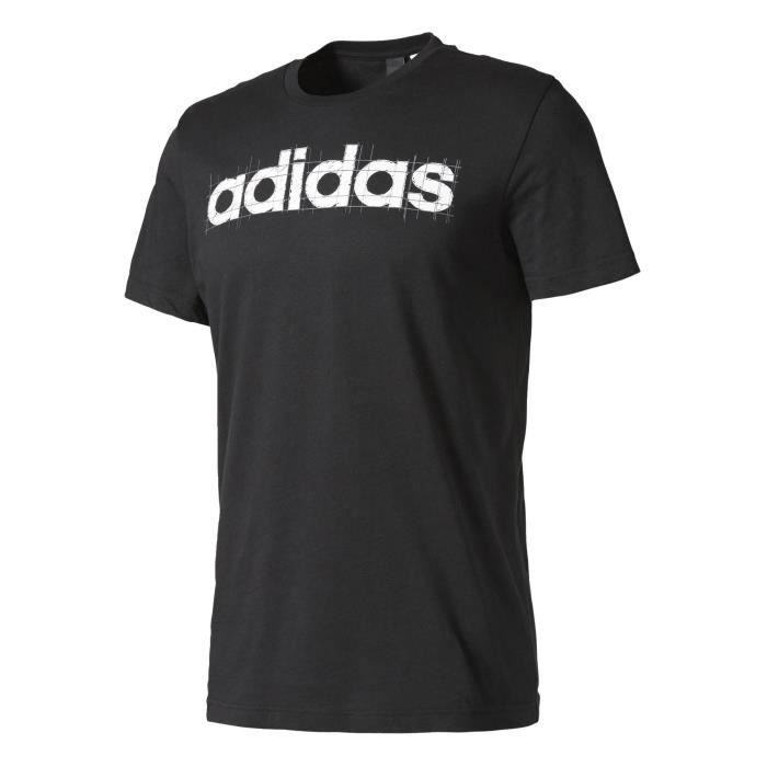 Adidas Performance Tshirt Linear Adidas noir, vêtements homme