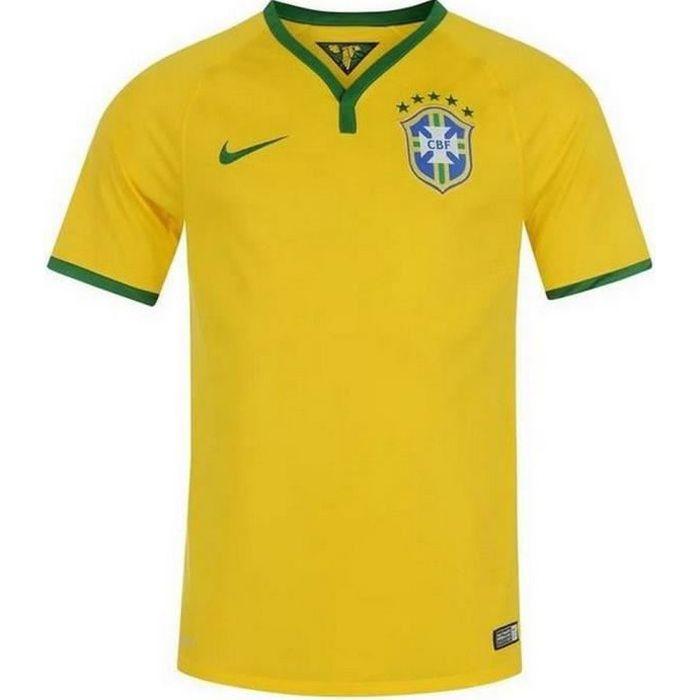 Maillot Officiel Homme Nike Brésil Coupe du Monde de Football 2014