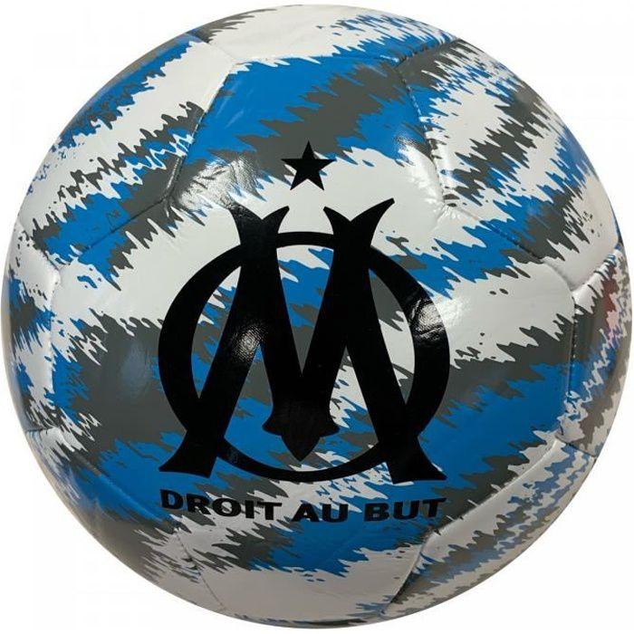 Ballon OM Iconic big cat - blanc/noir/bleu azur - Taille 5
