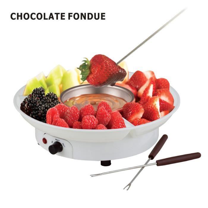 AvanC 230V Fondue au Chocolat Électrique ABS + Inoxydable