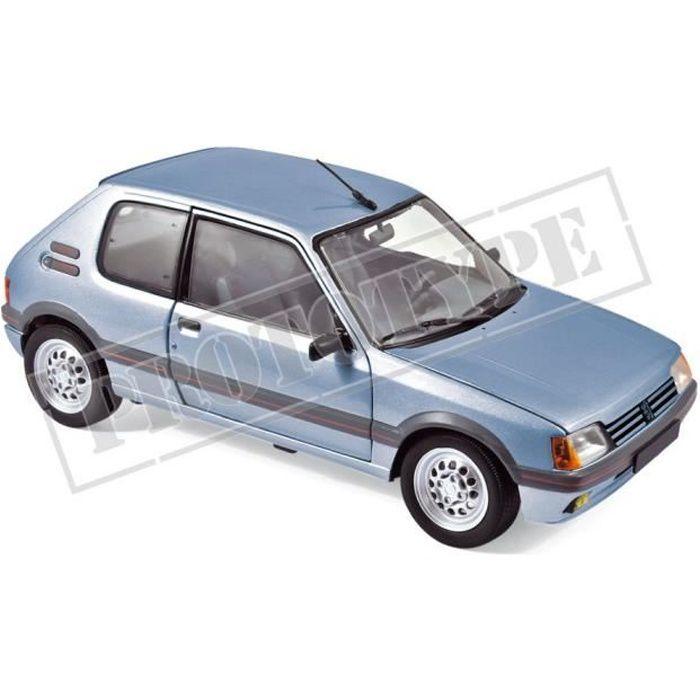 Véhicule Miniature assemble - Peugeot 205 GTI 1.6 Bleu Topaze 1988 1-18 Norev