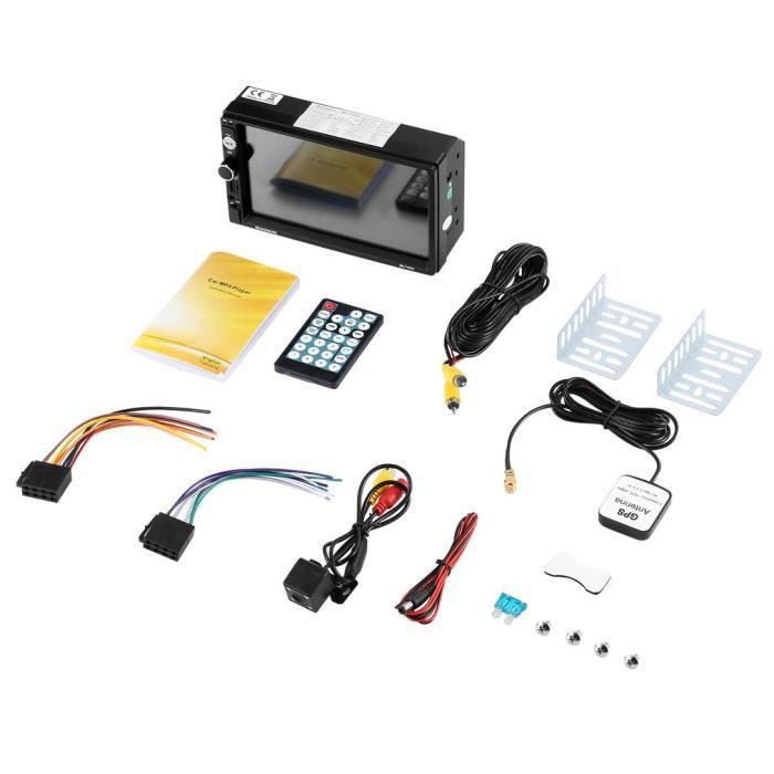 Reakosound 1080P 7 pouces écran tactile à distance BT - FM - TF - USB GPS lecteur MP5 de voiture