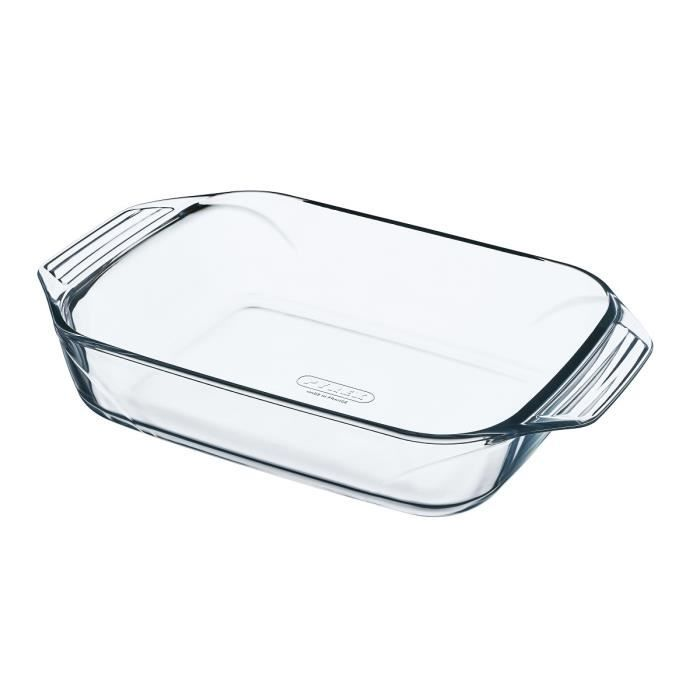 PYREX Plat à four rectangulaire 35x23 cm transparent