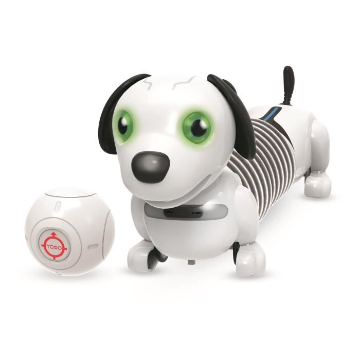 YCOO by Silverlit Junior Robo Dackel - 88578 - 25 cm - Chien extensible autonome qui te suit