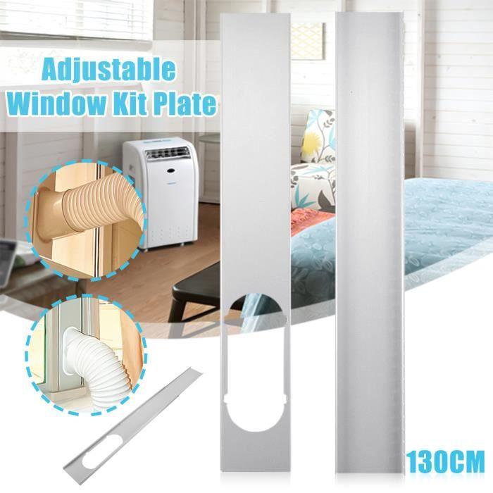 2PCs kit Glissière de fenêtre 130cm Pr Mobile Climatiseur Climatisation Portable Portatif