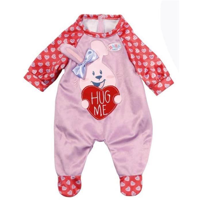 Zapf Creation 828250 BABY Born Grenouillère pour poupée de 43cm rose