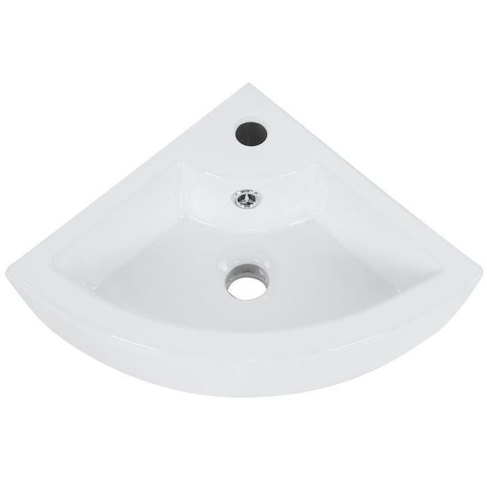 CEN Lavabo d\'angle de salle de bain moderne en céramique blanche de haute  qualité pour vestiaire