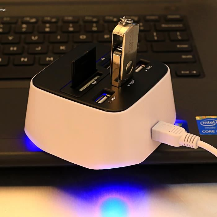 RÉCEPTEUR INFRAROUGE USB-Hub 4-Port USB 2.0 Hub