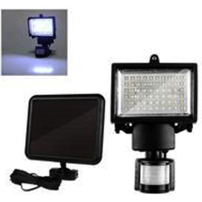 LAMPE DE JARDIN  60 LED Solaire PIR Lampe de sécurité à détecteur d