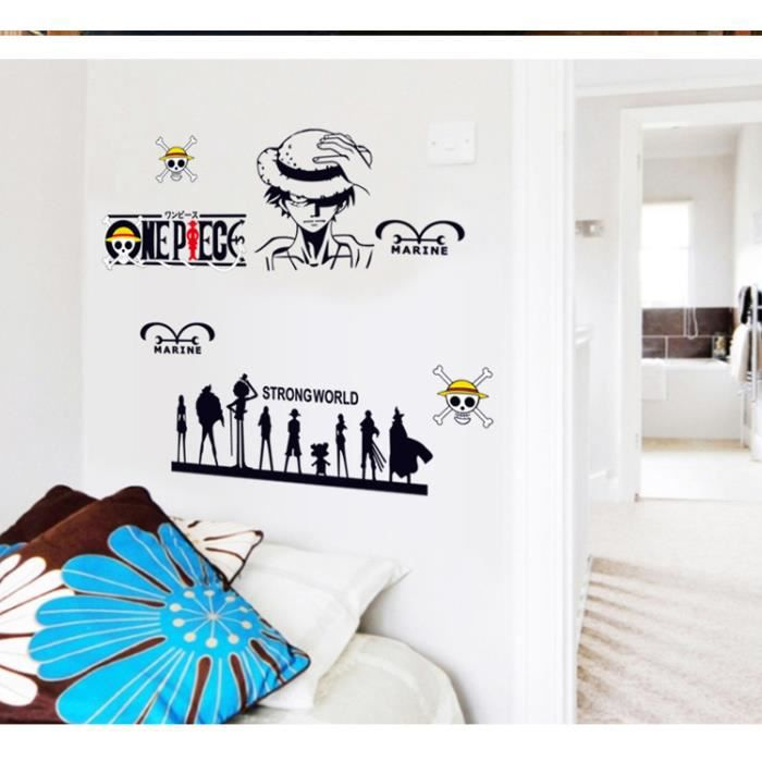 Stickers muraux one piece achat vente stickers cdiscount for Decoration murale one piece