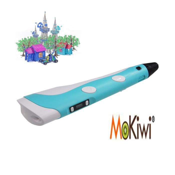 mokiwi stylo 3d pinceau crayon d 39 impression bleu avec 3m 3 fil pour imprimante 3d prix pas. Black Bedroom Furniture Sets. Home Design Ideas