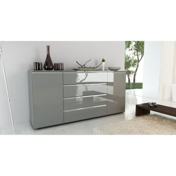 buffet 180cm laqu gris filandek meubles bon prix. Black Bedroom Furniture Sets. Home Design Ideas