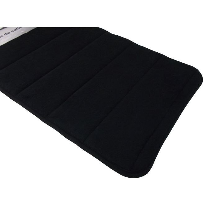 tapis salle de bain a m moire de forme noir achat vente tapis de bain cdiscount. Black Bedroom Furniture Sets. Home Design Ideas