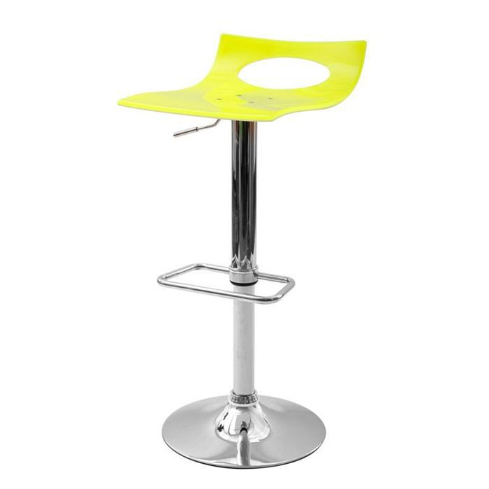 tabouret de bar design jaune et blanc calypso achat vente tabouret cdiscount. Black Bedroom Furniture Sets. Home Design Ideas