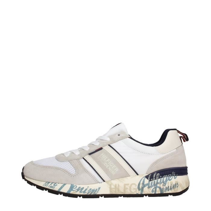 Tommy Hilfiger Sneakers Homme Ice/Off White lrer84hd6X