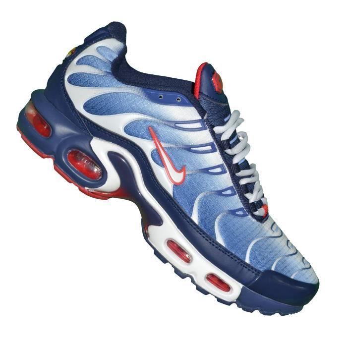 Nike -- Basket - Homme - Air Max Plus Tn 07 - Bleu Blanc Bleu ...