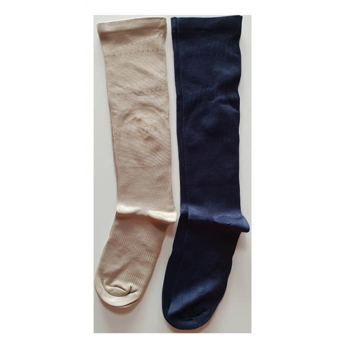Lot 3 paires de chaussettes hautes Mi-bas mixte