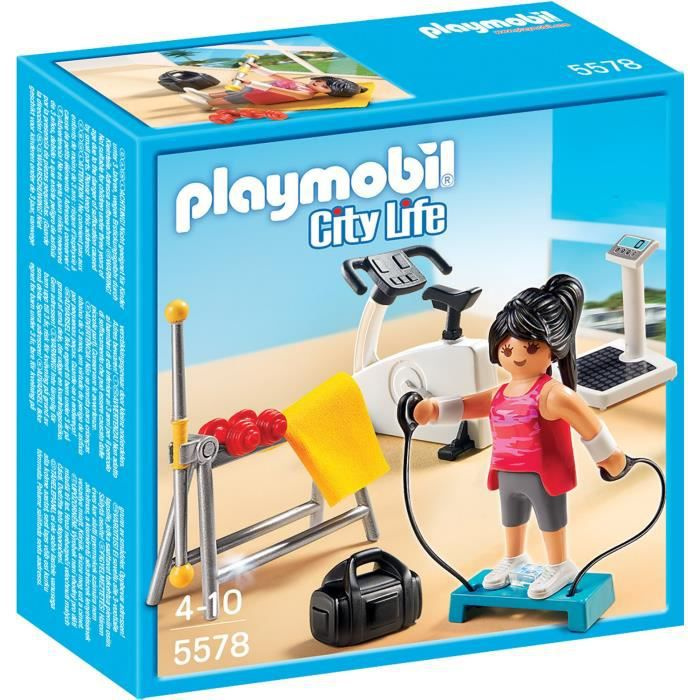 Playmobil 5578 salle de sports achat vente univers for Playmobil casa de lujo