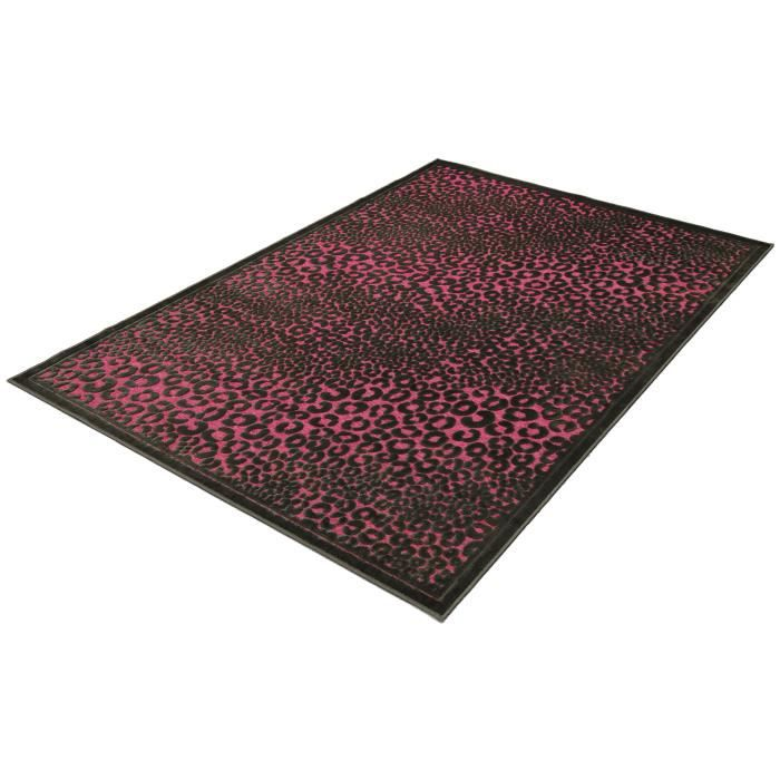 tapis salon vintage rose et noir universol achat vente tapis cdiscount. Black Bedroom Furniture Sets. Home Design Ideas