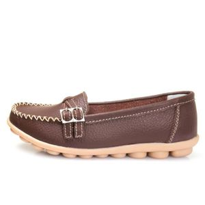 Mocassin Femmes Mode Loafer Detente Classique Chaussures BSMG-XZ088Marron35