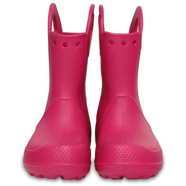 6X0 12803 Candy Wellies Rain It Enfants Handle Rose Boot Crocs en 7qp6x