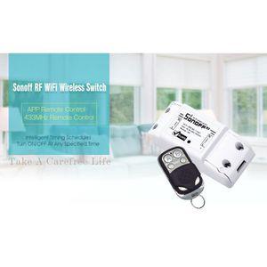 TÉLÉCOMMANDE DOMOTIQUE  Interrupteur intelligent sans fil Sonoff RF-WiFi 4