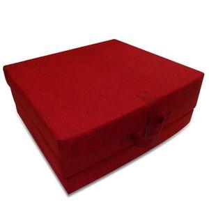LIT PLIANT Magnifique Matelas en mousse pliable rouge 190 x 7