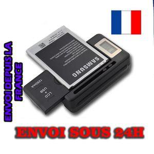 CHARGEUR TÉLÉPHONE Chargeur de Batterie Universel Port USB et LCD pou