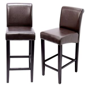 tabouret de bar cuir marron achat vente tabouret de bar cuir marron pas cher cdiscount. Black Bedroom Furniture Sets. Home Design Ideas