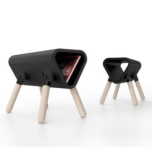 TABLE D'APPOINT Guéridon design Didier STAMP EDITION - Noir