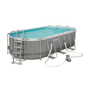 PISCINE Piscine tubulaire amovible Bestway Power Steel Ova