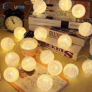 GUIRLANDE LUMINEUSE INT Guirlande lumineuse - 20 boules LED - Blanc chaud