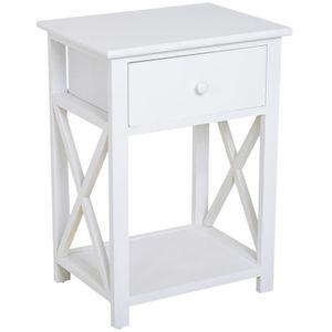 TABLE BASSE Table de chevet table de nuit style cosy avec croi