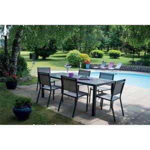 Table extensible en composite 6/10 places Taupe - Achat ...