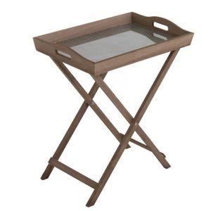 TABLE D'APPOINT Home Decor - Table Auxiliaire avec Plateau 51 cm -