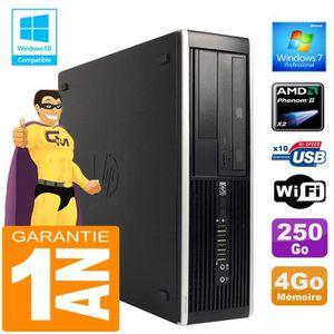UNITÉ CENTRALE  PC HP Compaq 6005 Pro SFF AMD Phenom II Ram 4Go Di