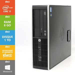 UNITÉ CENTRALE  Pc bureau hp elite 8200 core i3 8 go ram 1 to disq