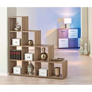 Etagere de separation 10 compartiments achat vente for Meuble separation piece
